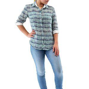WEEKEND MAXMARA 3/4 Cuffed Sleeve Blouse #TT8